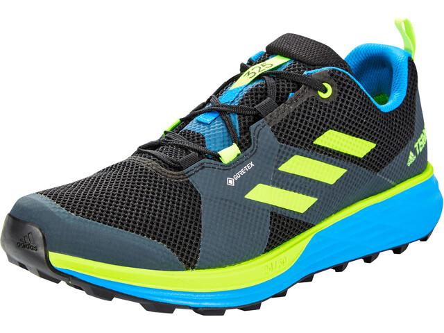 adidas TERREX Two Gore-Tex Trail Running Schuhe Herren core black/signal green/brblue